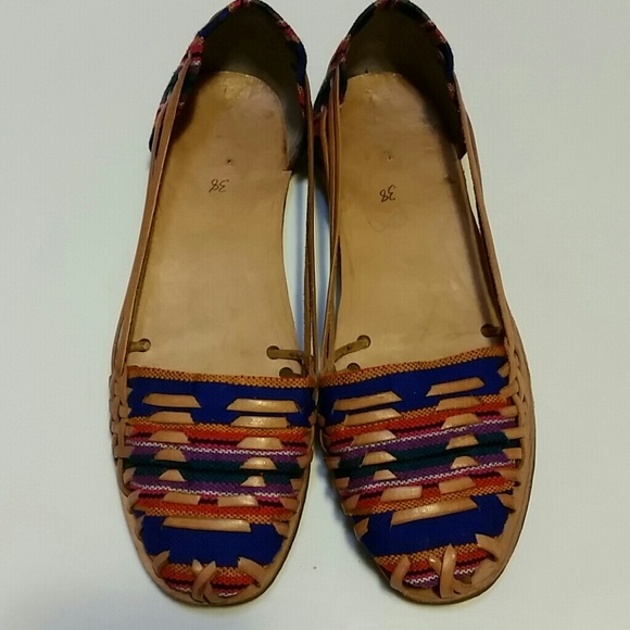 a86f1a69e4cb SOLD ○ Boho Leather Sandals Mexican Huaraches
